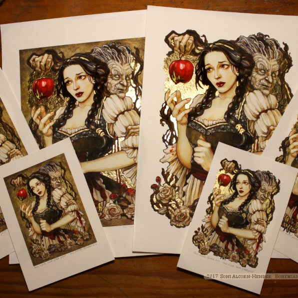 Snow White gilded prints, Soni Alcorn-Hender