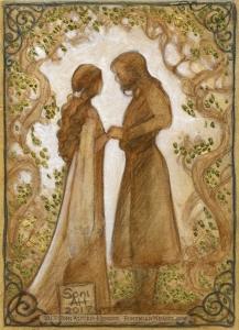 Arwen and Aragorn, by Soni Alcorn-Hender