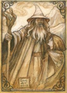 Gandalf & Frodo by Soni Alcorn-Hender