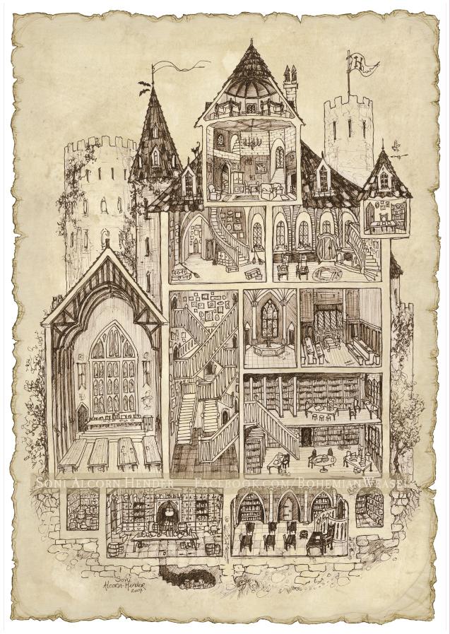 Hogwarts Magic School diagram by Soni Alcorn-Hender