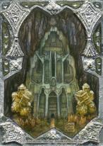Erebor, gilded sketch card by Soni Alcorn-Hender