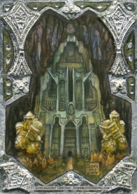 Erebor, gilded sketch card by Soni Alcorn-Hender