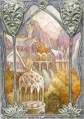 Rivendell window, Erebor, gilded sketch card by Soni Alcorn-Hender