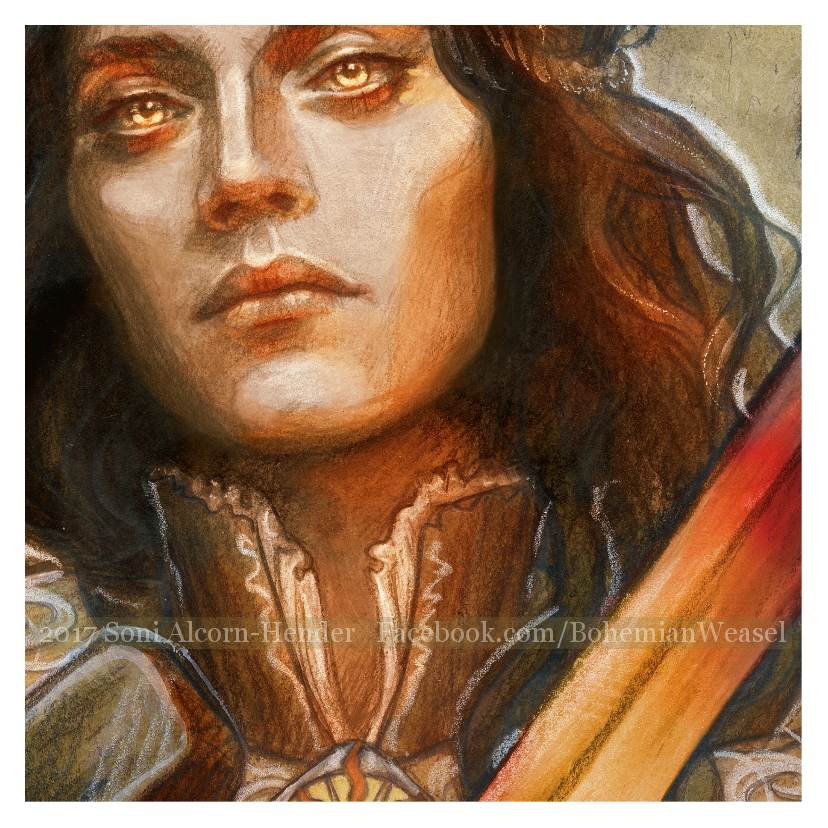 Fëanor illustration detail, Soni Alcorn-Hender