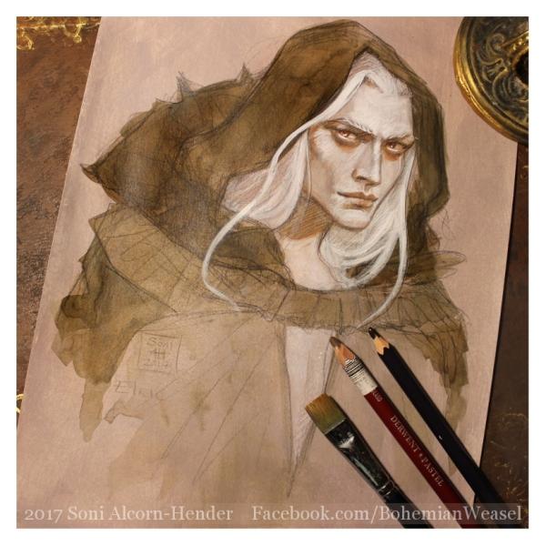 Elric of Melniboné sketch, Soni Alcorn-Hender