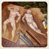 Statue test sketches, Soni Alcorn-Hender