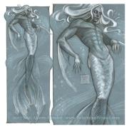 The Merman, sketch by Soni Alcorn-Hender