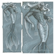 The Merman, sketch by Soni Alcorn-Hender