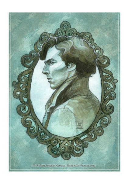 Sherlock, sketch by Soni Alcorn-Hender