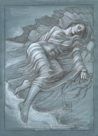'The Merman's Lover', sketch by Soni Alcorn-Hender