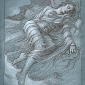 'The Merman's Lover', sketch by Soni Alcorn-Hender