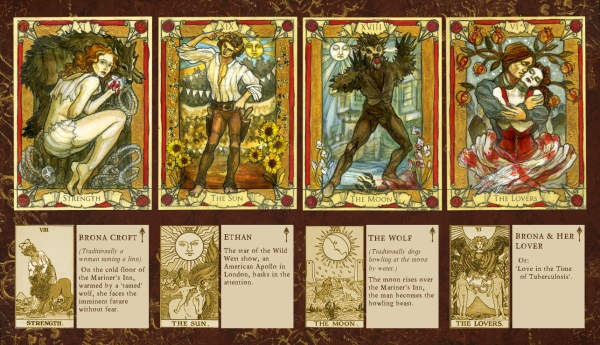 Penny Dreadful tarot sketch cards, Soni Alcorn-Hender