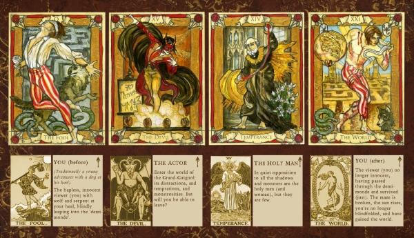 Penny Dreadful tarot sketch cards, Soni Alcorn-Hender