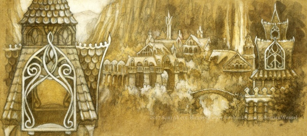 Rivendell panoramic postcard