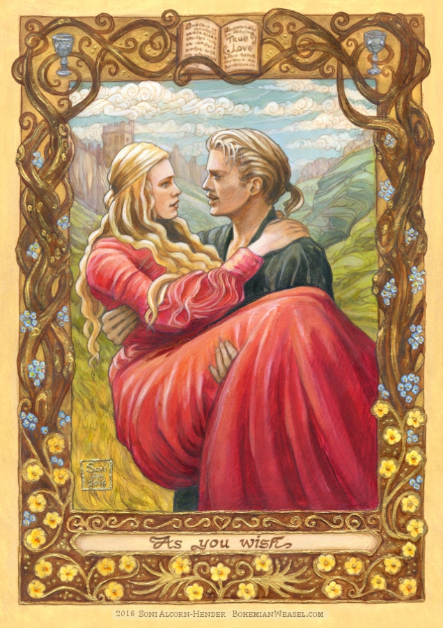 Princess Bride painting, Soni Alcorn-Hender