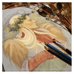 Thranduil in Winter, work in progress, Soni Alcorn-Hender