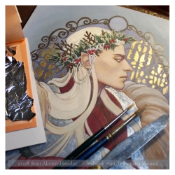 Thranduil in Winter, work in progress, Soni Alcorn-Hender