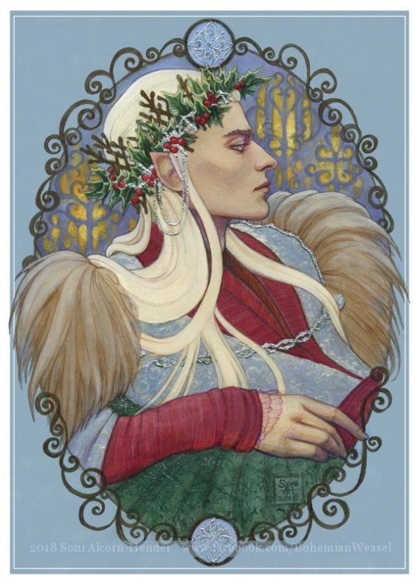 Thranduil in Winter, by Soni Alcorn-Hender
