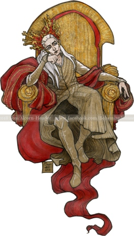 Elvenking in gold and red