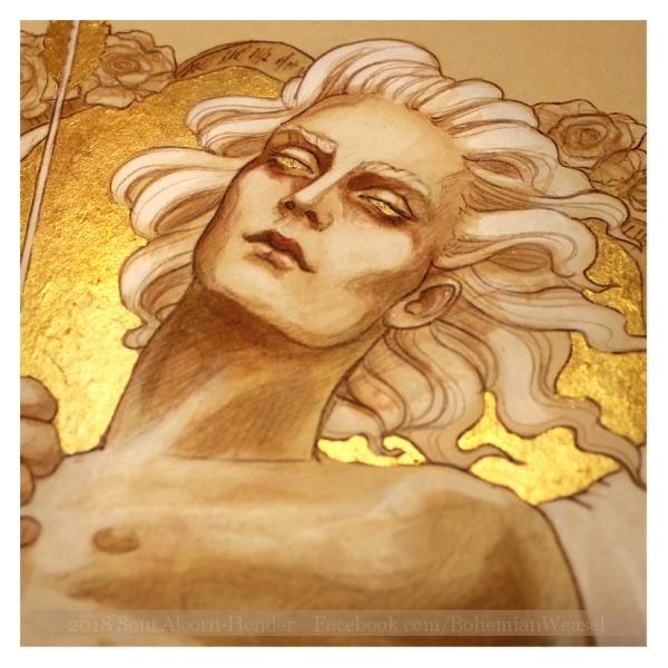 Eros / Cupid work in progress detail