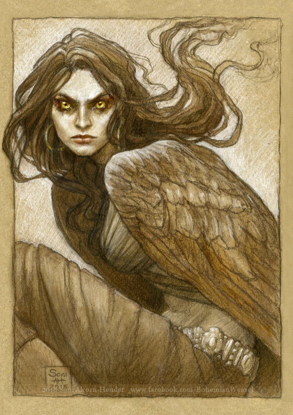The harpy, Marta, by Soni Alcorn-Hender