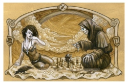 Death plays chess, by Soni Alcorn-Hender