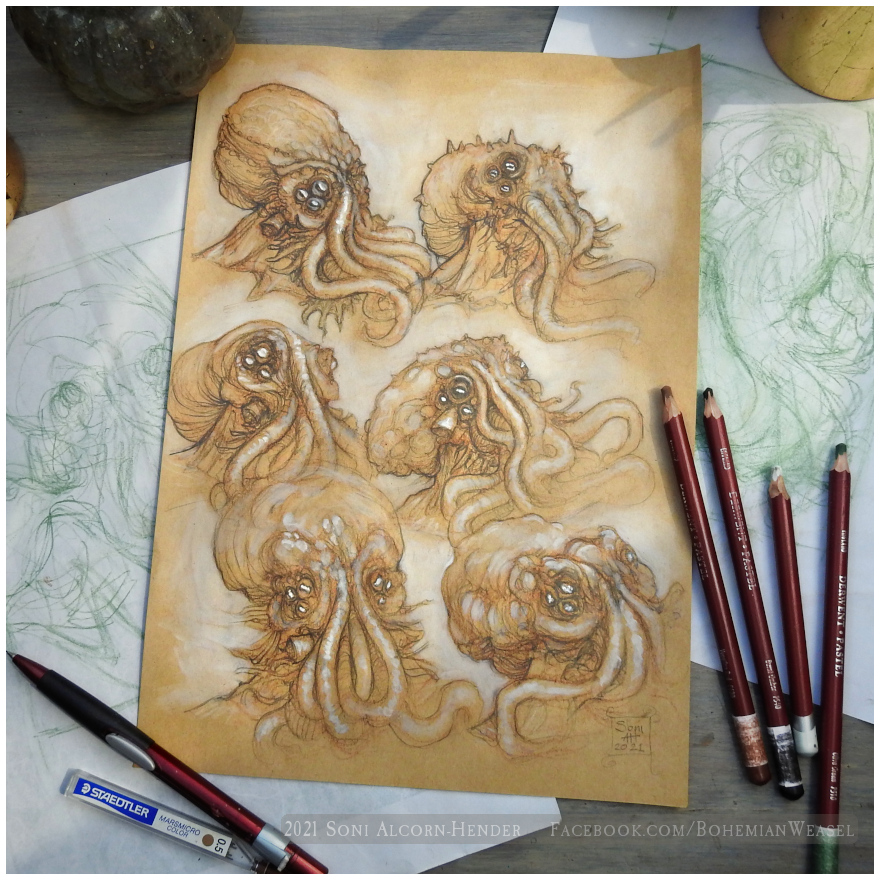 Cthulhu Sketches, by Soni Alcorn-Hender