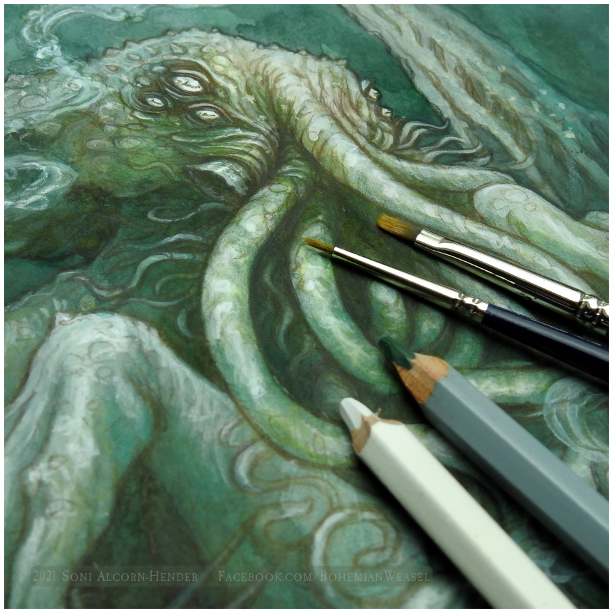 Preview detail, Cthulhu by Soni Alcorn-Hender