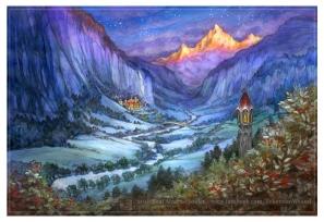 Rivendell in winter by Soni Alcorn-Hender