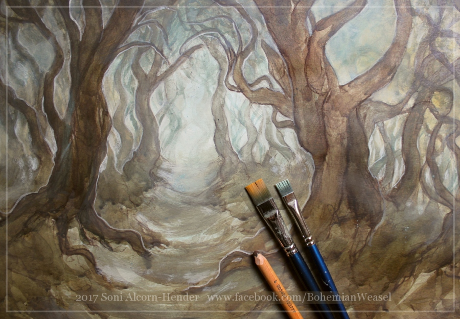 Old Forest, work in progress 2, Soni Alcorn-Hender
