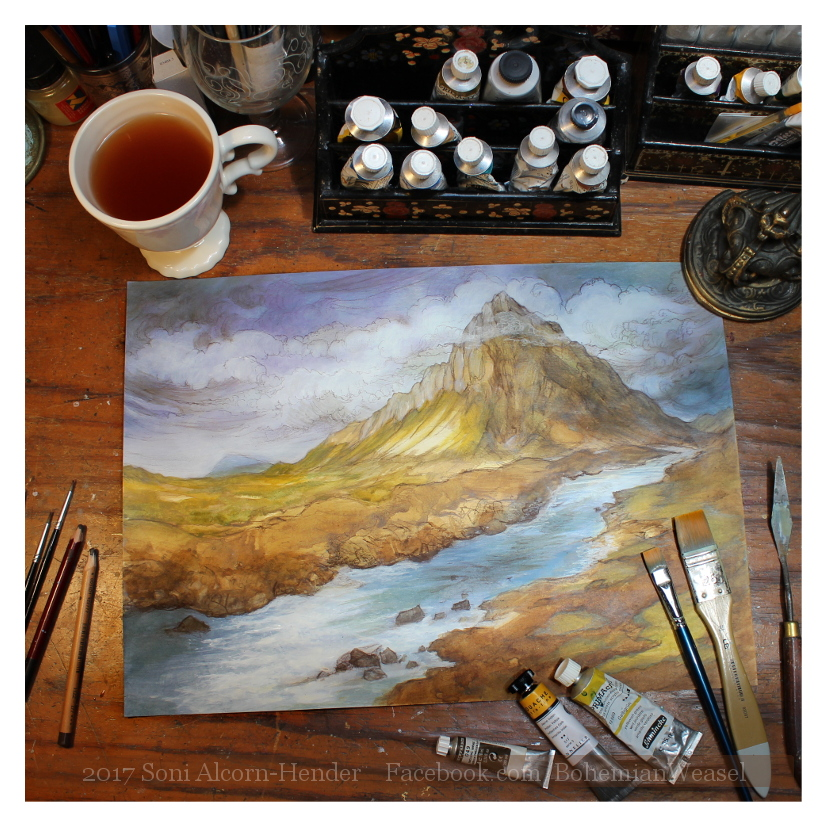The Lonely Mountain, work in progress, Soni Alcorn-Hender