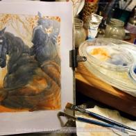 Black Rider, work in progress, Soni Alcorn-Hender