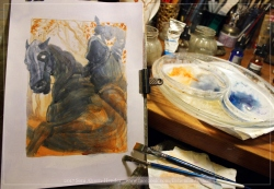 Black Rider, work in progress, Soni Alcorn-Hender