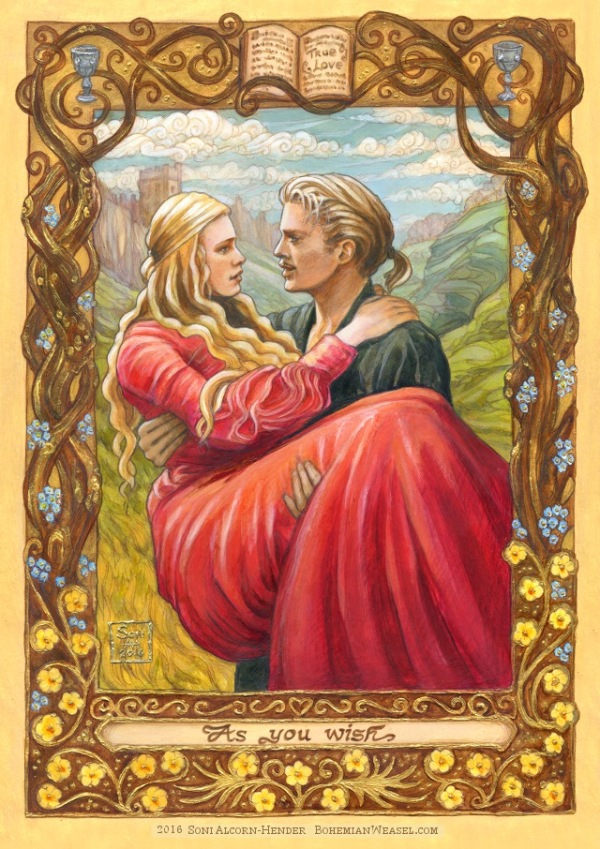 Princess Bride painting by Soni Alcorn-Hender