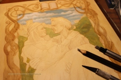 Princess Bride work in progress detail