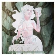 Circe painting WIP, Soni Alcorn-Hender