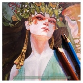 Circe painting WIP (makeup), Soni Alcorn-Hender