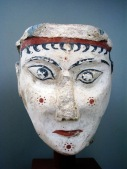 Reference: the painted cheeks of Mycenaean women circa 1300 BC.
